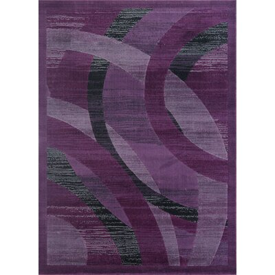 Barnsley Purple Area Rug Rug Size: Rectangle 53 x 72