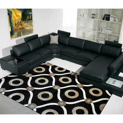Black Area Rug Rug Size: Runner 2' x 7'2