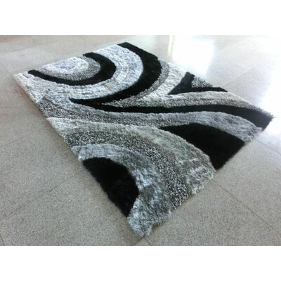 Black/Grey Area Rug Rug Size: Runner 2 x 72