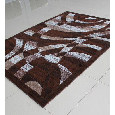 Brown/Gray Area Rug Rug Size: 4 x 6