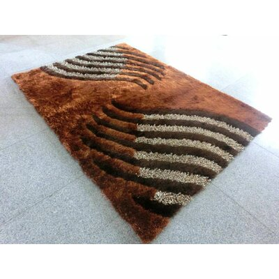 Brown Area Rug Rug Size: 7 x 10