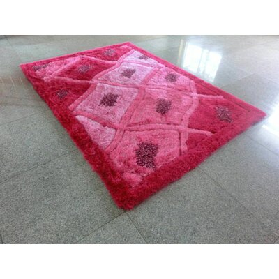 Pink Area Rug Rug Size: 53 x 72