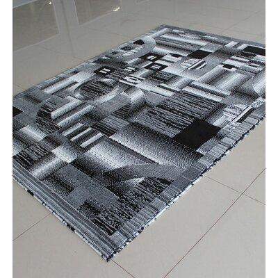 Black/White Area Rug Rug Size: 711 x 910