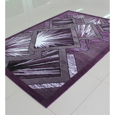 Purple Area Rug Rug Size: Runner 2 x 72
