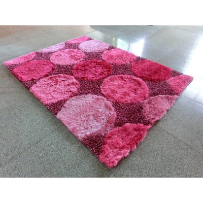 Pink Area Rug Rug Size: 3 x 5