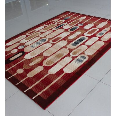 Red Area Rug Rug Size: 711 x 910