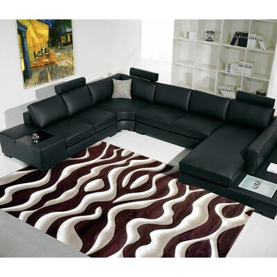 Brown Area Rug Rug Size: 27x72 Runner
