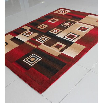 Red Area Rug Rug Size: Runner 2 x 72