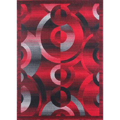 Mccomas Modern Black/Red Area Rug