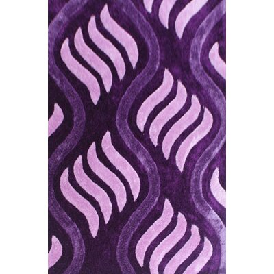 Obed Purple Area Rug Rug Size: 53 x 72