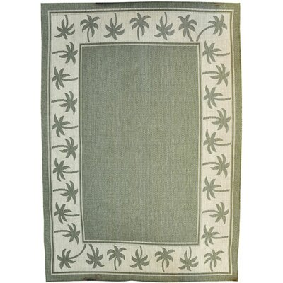 Green Area Rug Rug Size: 53 x 72