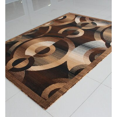 Brown Area Rug Rug Size: 3 x 5