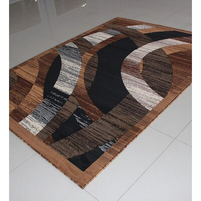 Brown Area Rug Rug Size: 4 x 6