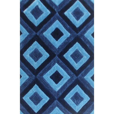 Guice Blue Area Rug Rug Size: 53 x 72