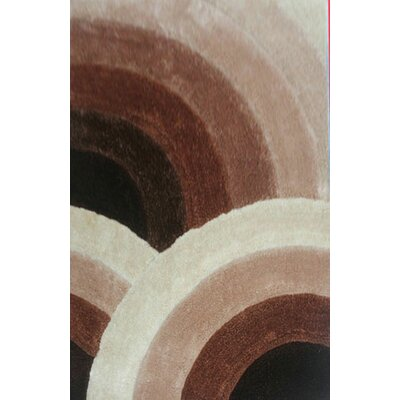 Sadik Brown Area Rug Rug Size: 53 x 72