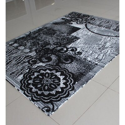 Black/White Area Rug Rug Size: 4 x 6