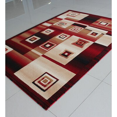 Red/Black Area Rug Rug Size: 53 x 72