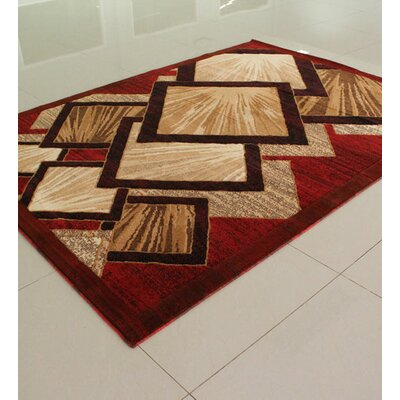 Orange Area Rug Rug Size: 4' x 6'
