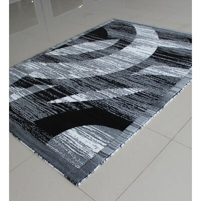 Black/White Area Rug Rug Size: Rectangle 711 x 910
