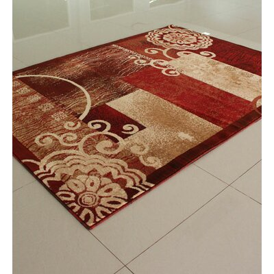 Orange Area Rug Rug Size: 4 x 6