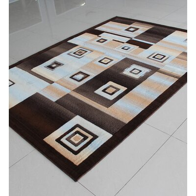 Brown/Gray Area Rug Rug Size: 7'11