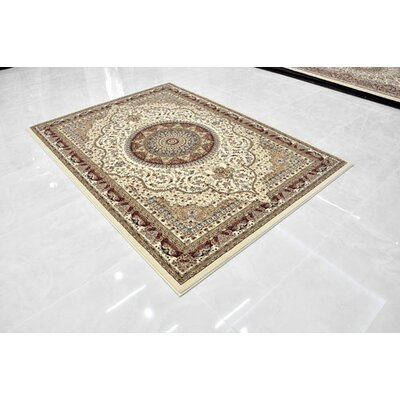 Cream Area Rug Rug Size: 5'3