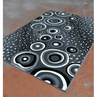 Antracite/Black Area Rug Rug Size: 7'11
