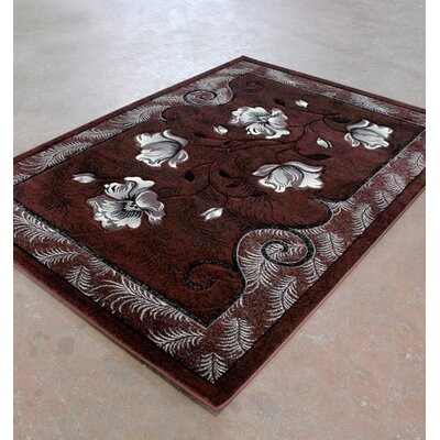 Burgundy/Black Area Rug Rug Size: Runner 2 x 72