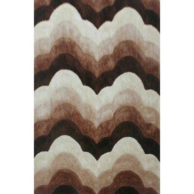 Dicarlo Brown Area Rug Rug Size: 53 x 72