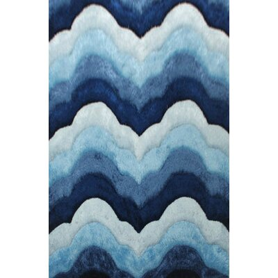 Dixion Blue Area Rug Rug Size: 53 x 72