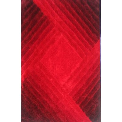 Bita Red Area Rug Rug Size: 53 x 72