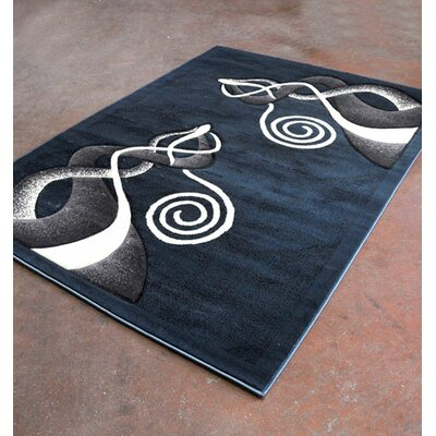 Blue/Black Area Rug Rug Size: Runner 2 x 72