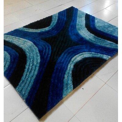 Dark Blue Area Rug Rug Size: 711 x 910