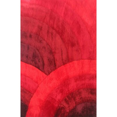 Delphin Red Area Rug Rug Size: 7'11