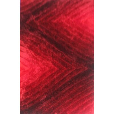 Priston Red Area Rug Rug Size: 53 x 72