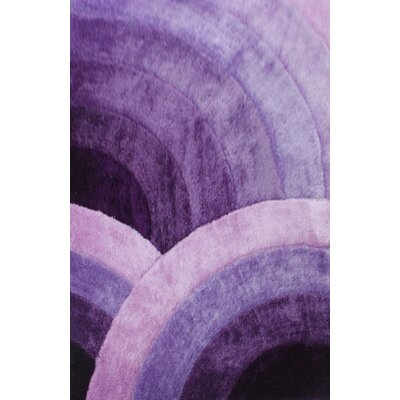 Zaquan Purple Area Rug Rug Size: 711 x 910