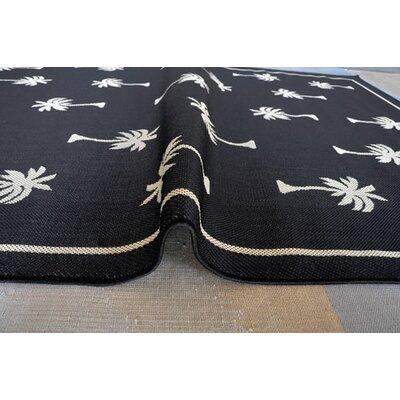 Black Area Rug Rug Size: 53 x 72