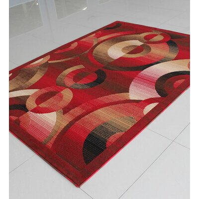 Red Area Rug Rug Size: Rectangle 3 x 5