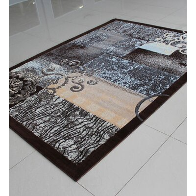 Brown/Gray Area Rug Rug Size: 3 x 5