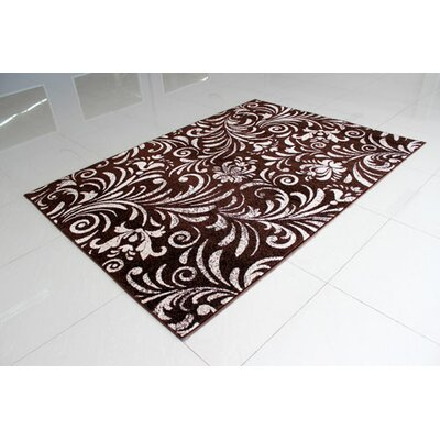 Brown/Berber Area Rug Rug Size: 53 x 72
