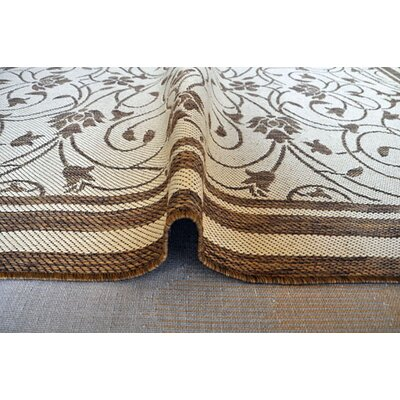 Gold Area Rug Rug Size: 53 x 72