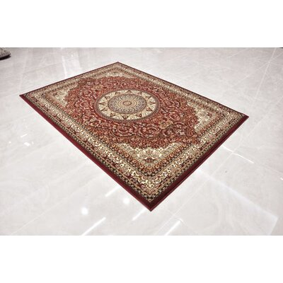 Red Area Rug Rug Size: Runner 2'7