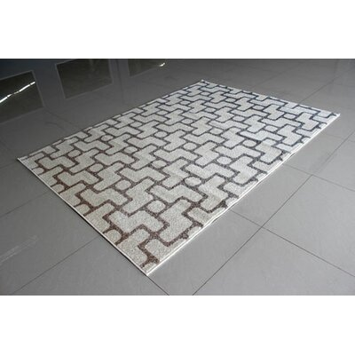 Ivory Area Rug Rug Size: 711 x 910