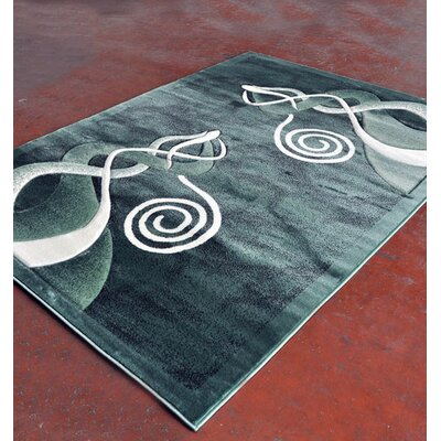 Light Green Area Rug Rug Size: 5'3