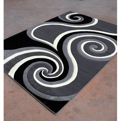Antracite/Black Area Rug Rug Size: 711 x 910