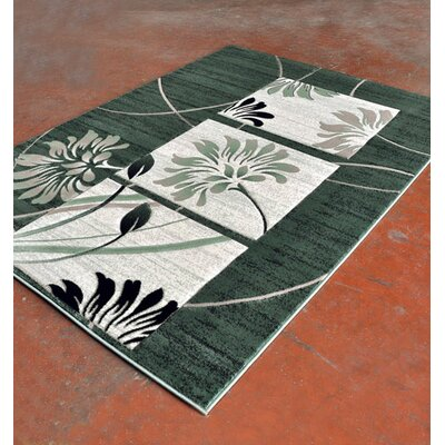 Light Green/Black Area Rug Rug Size: Runner 2 x 72