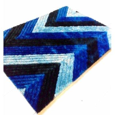 Dark Blue Area Rug Rug Size: 5'3