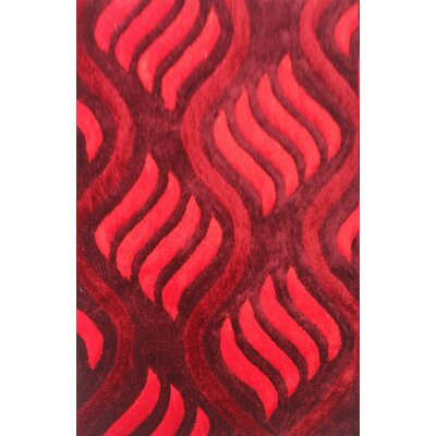 Ama Red Area Rug Rug Size: 711 x 910