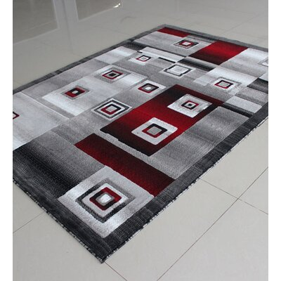 Red/Black Area Rug Rug Size: 4 x 6