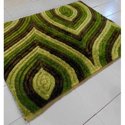 Green Area Rug Rug Size: 53 x 72